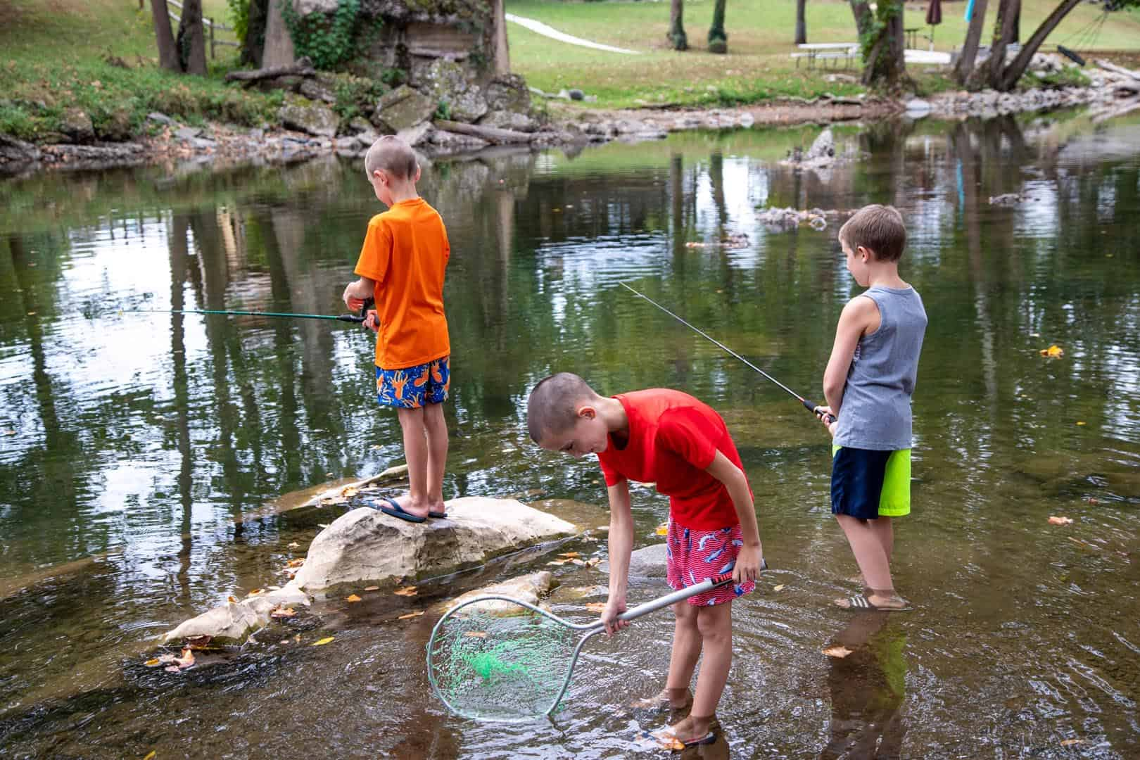 Little boys fishing