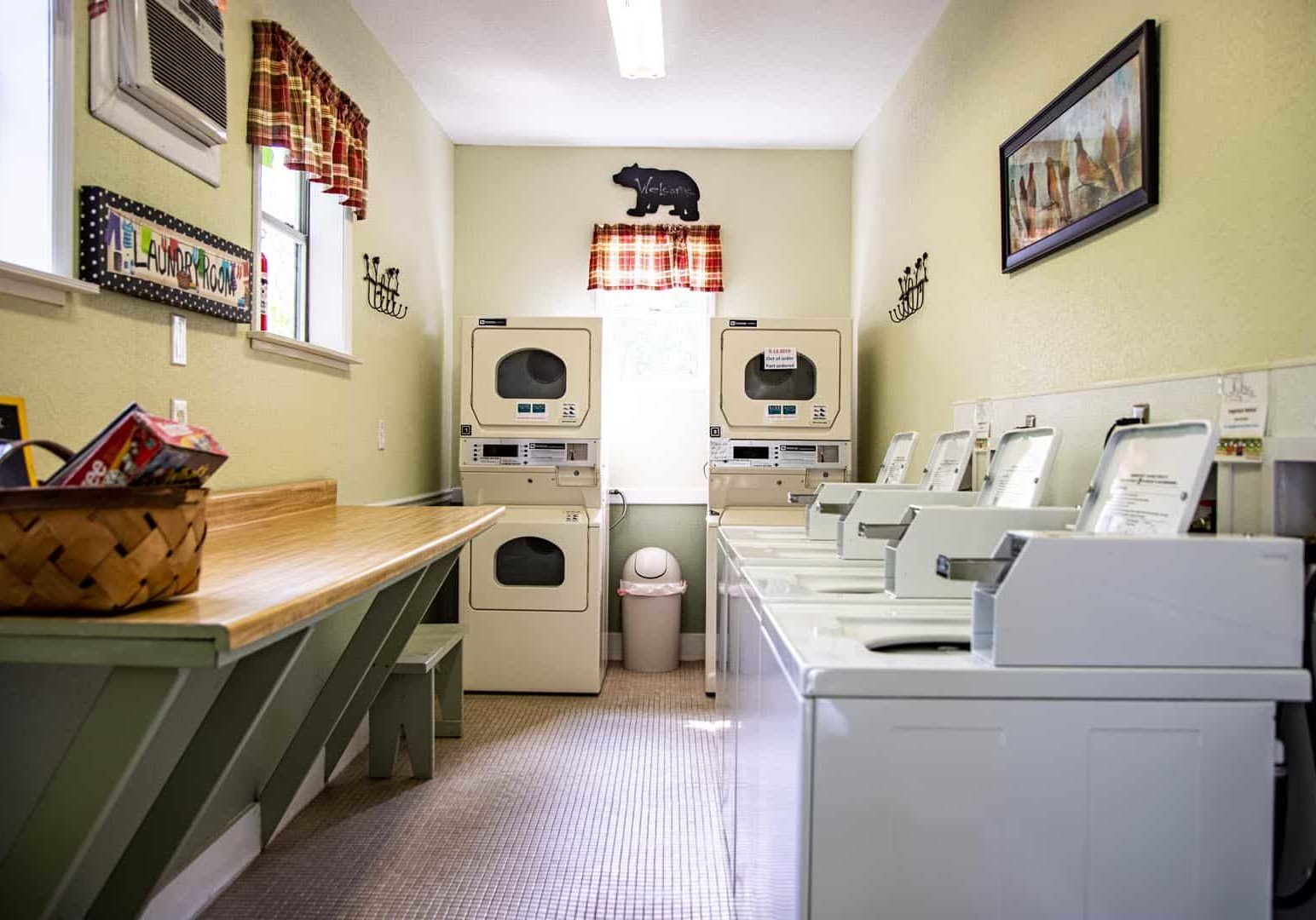 Climate controlled laundry room